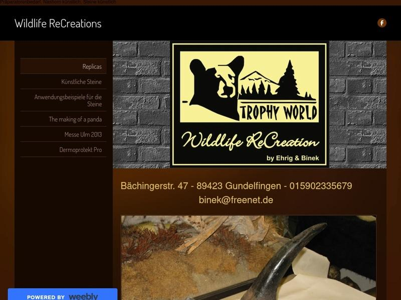 Screenshot von http://wildliferecreations.weebly.com